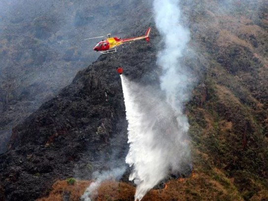 Fogo deve ser erradicado nesta quarta-feira  (Foto: Edvaldo Fausto/Divulgação)
