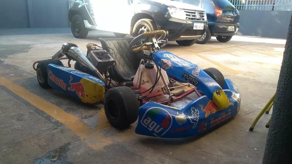 Kart foi apreendido após perseguição pelas ruas de Sarandi, na noite de sexta-feira (8) — Foto: Guarda Municipal de Maringá/Divulgação