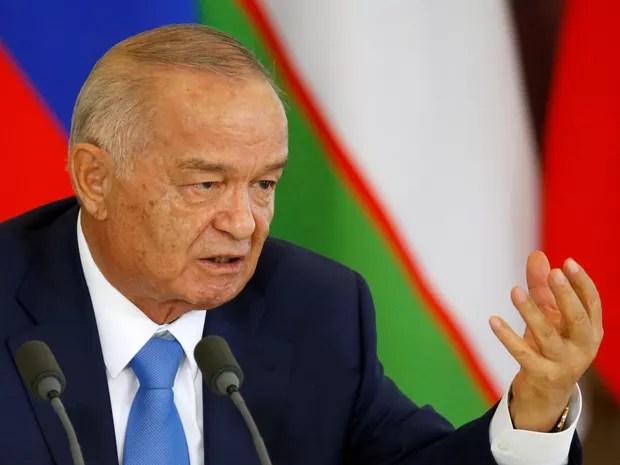 Islam Karimov, presidente do Uzbequistão, em imagem de abril de 2016 durante uma reunião em Moscou (Foto: REUTERS/Maxim Shemetov/File Photo)