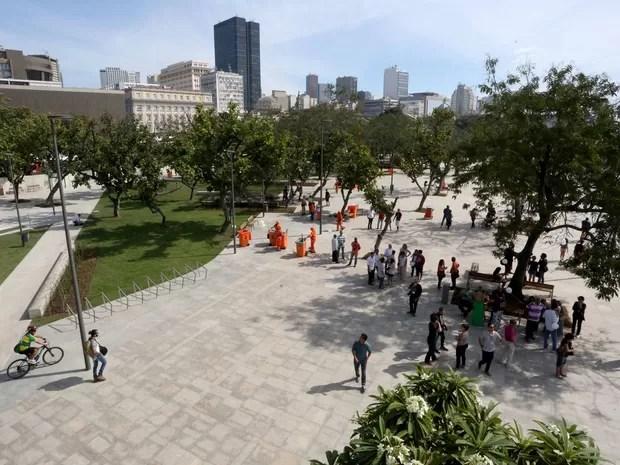 Espaços revitalizados são inaugurados no Centro (Foto: Beth Santos/Divulgação Prefeitura do Rio)