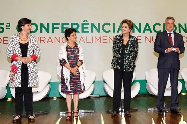 A presidente Dilma Rousseff durante abertura da 5ª Conferência Nacional de Segurança Alimentar e Nutricional (Foto: Roberto Stuckert Filho/PR)