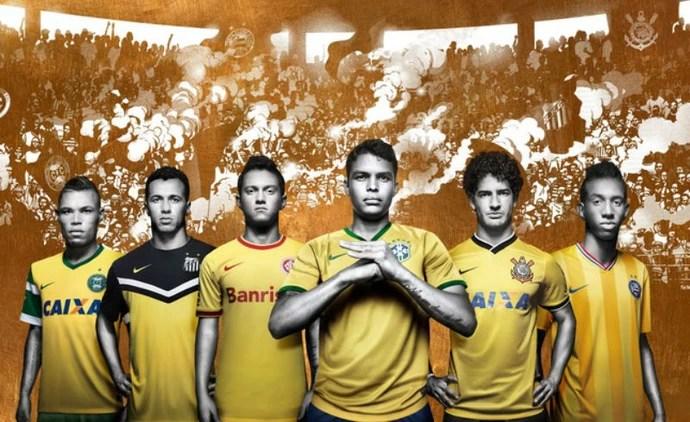 Camisas amarelas (Foto: Divulgação / Nike)