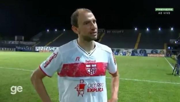 Renan Bressan se destacou no jogo em Belém — Foto: Reprodução/Premiere