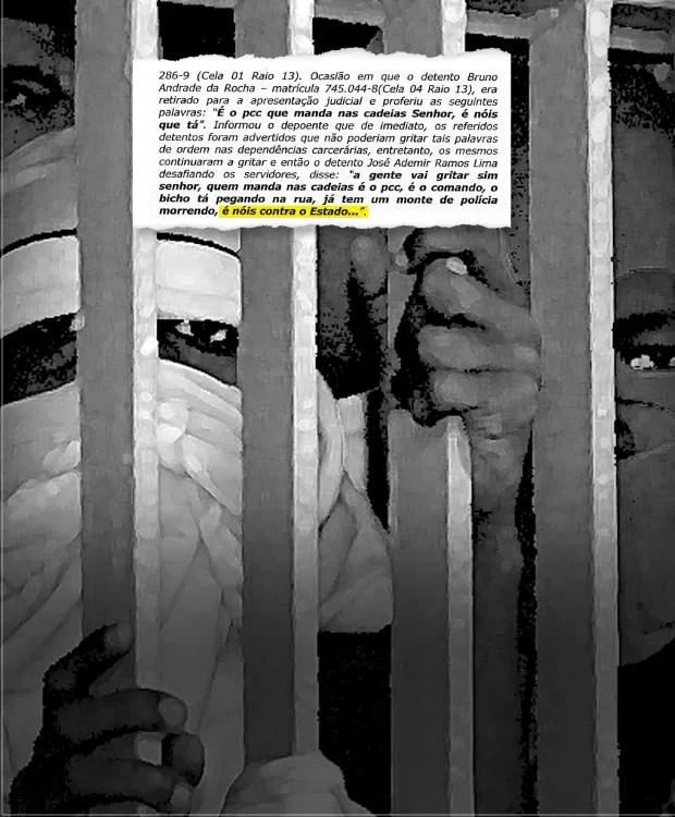 DESAFIO Cópia de processo da Justiça paulista. Presos do PCC mantêm seu poder dentro dos presídios (Foto: Reprodução/Revista ÉPOCA)