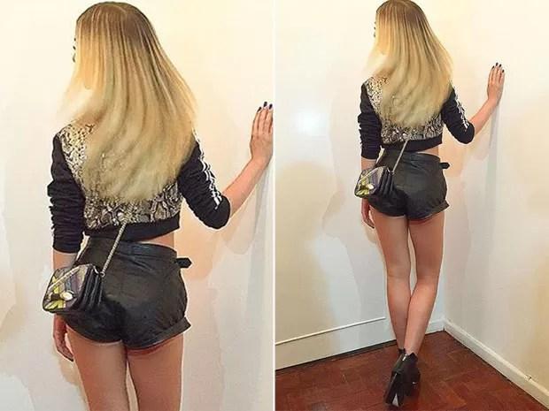 Ex-BBB Fernanda Keulla posa de shortinho (Foto: Instagram/ Reprodução)