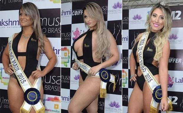 Candidatas Musa do Brasil: Leya Souza, Piauí | Marcelle Martins, Rio de Janeiro | Rô Fraga, São Paulo  (Foto: Divulgação)