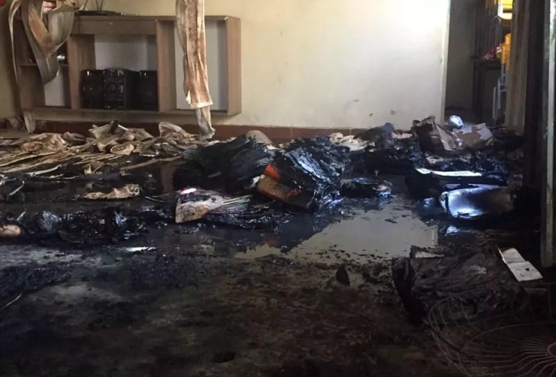 Crianças foram queimadas dentro da creche; 4 morreram (Foto: Natália Jael/Inter TV Grande Minas)