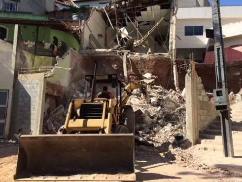Igreja evangélica desabou em Diadema (Foto: Vivian Reis/G1)