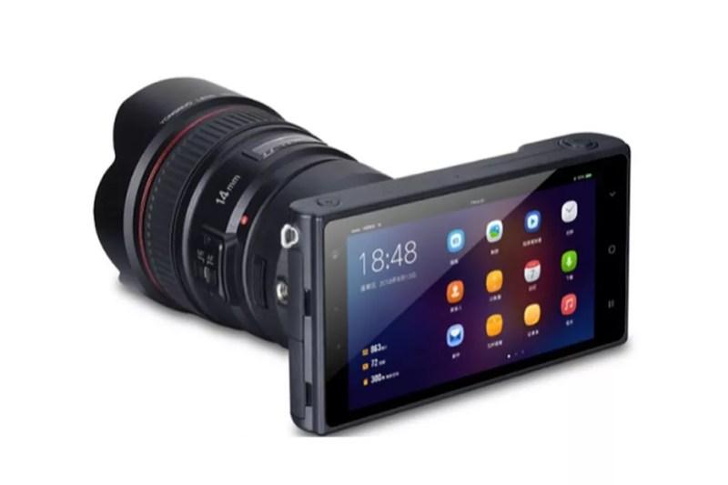 Câmera mirrorless da Yongnuo gravar vídeos em 4K e possui sistema operacional Android — Foto: Divulgação/Yongnuo