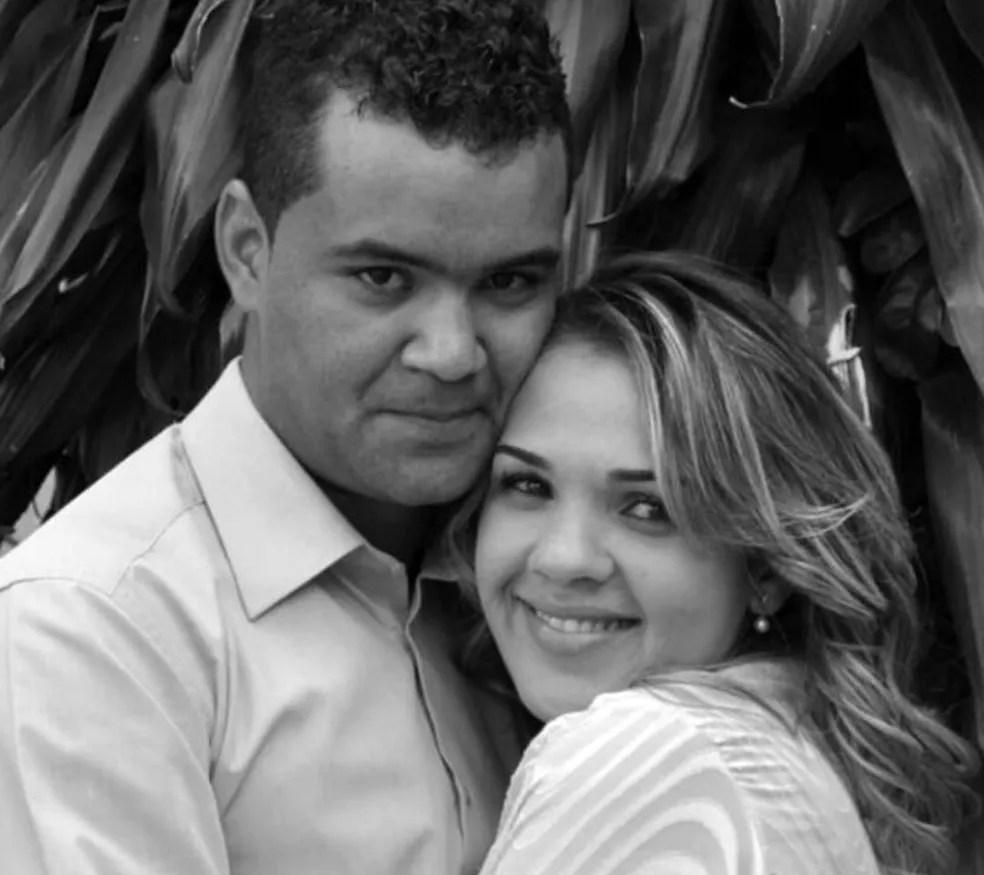 Luciane Araújo foi presa suspeita de mandar matar o marido, Joaniz Divino de Almeida — Foto: Polícia Civil/Divulgação