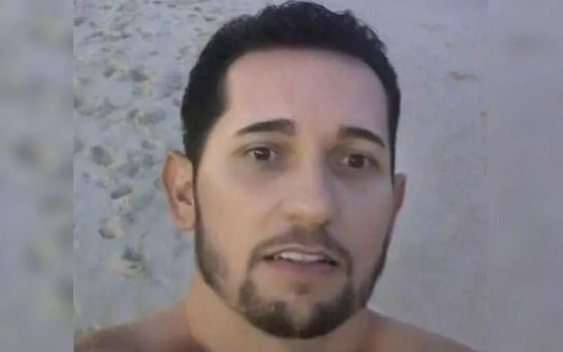 Leandro foi preso suspeito de espancar mulher e deixar ela amarrada por 36h — Foto: Reprodução/TV Anhanguera