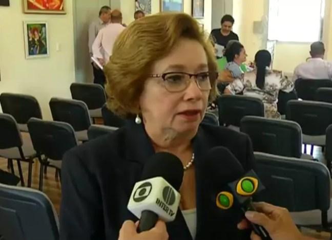 Elequicina dos Santos, titular da STTU, testou positivo para Covid-19 — Foto: Reprodução/Inter TV Cabugi