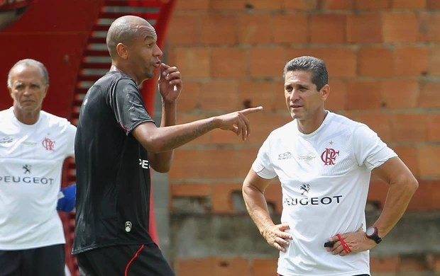 Alex silva e jorginho flamengo treino (Foto: Carlos Moraes / Agência Estado)
