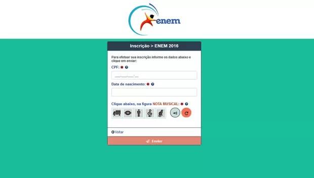 Sistema para inscrição do Enem 2016 já está no ar (Foto: Reprodução)