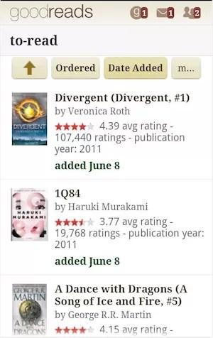 Goodreads traz recomendações de leitura e dá informações sobre livro pelo código de barras. (Foto: Reprodução/Goodreads)