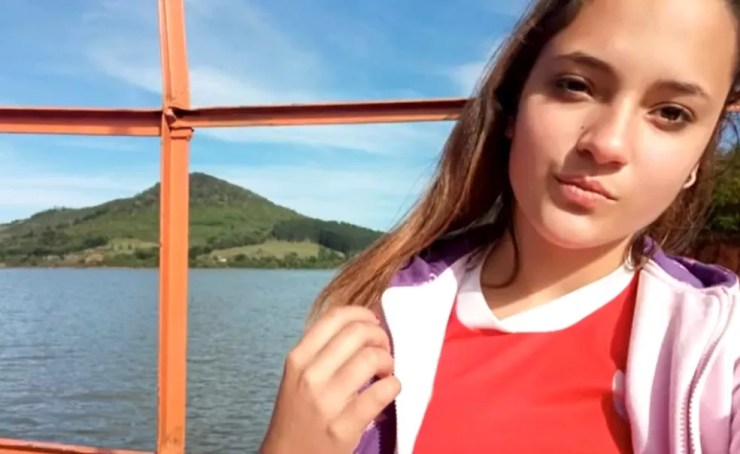 Adolescente foi encontrada morta em Campo Belo do Sul, na Serra catarinense — Foto: NSC TV/Reprodução