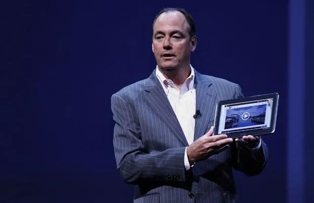 Novo tablet Galaxy Note foi apresentado por Tim Baxter em evento em Nova York (Foto: Lucas Jackson/Reuters)