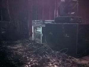 Incêndio no Teatro Sesc Casa do Comércio 02 (Foto: Divulgação/Corpo de Bombeiros)