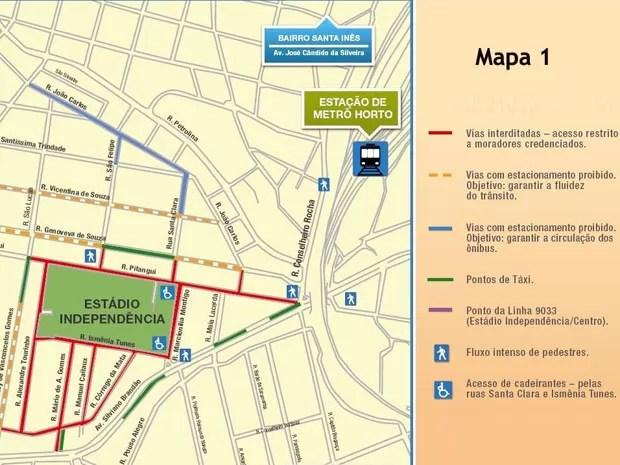 Trânsito será alterado no entorno do Estádio Independência