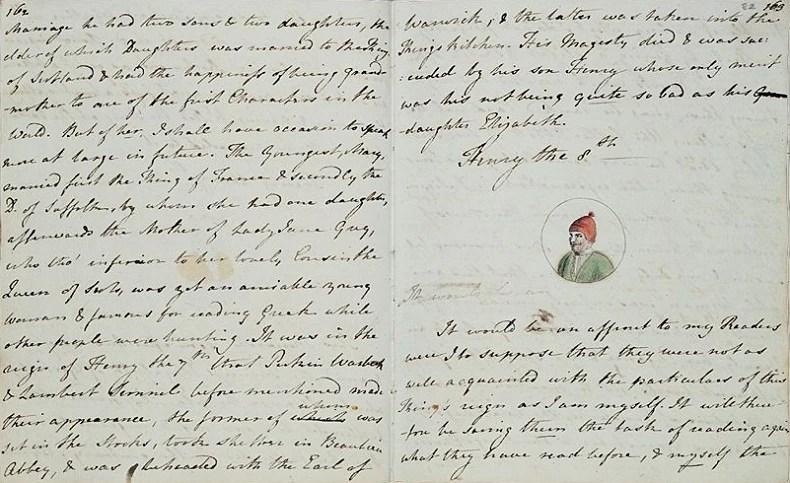 No entanto, Austen afirmou 'ser uma péssima e preconceituosa historiadora' (Foto: biblioteca britânica)