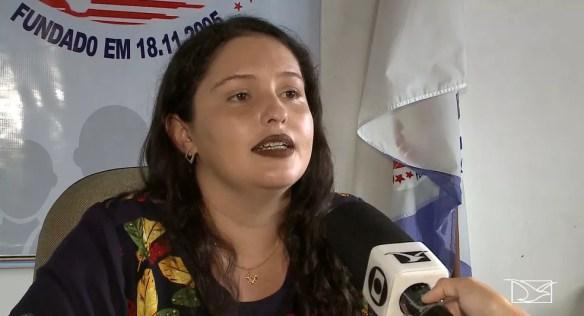 Agente penitenciária Adriana Barros foi presa após pedir que uma escrivã e um investigador da Polícia Civil passasse por uma revista em presídio em Santa Inês — Foto: Reprodução/TV Mirante