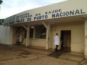 Aposentada foi atendida no Hospital Regional de Porto Nacional (Foto: Bernardo Gravito/G1)