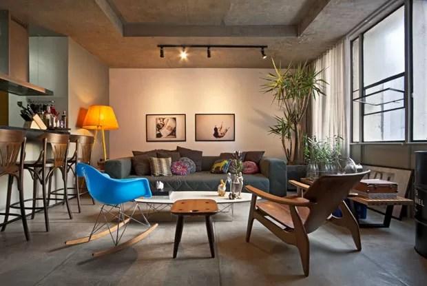 Loft mineiro com toques retr  Casa Vogue  Apartamentos