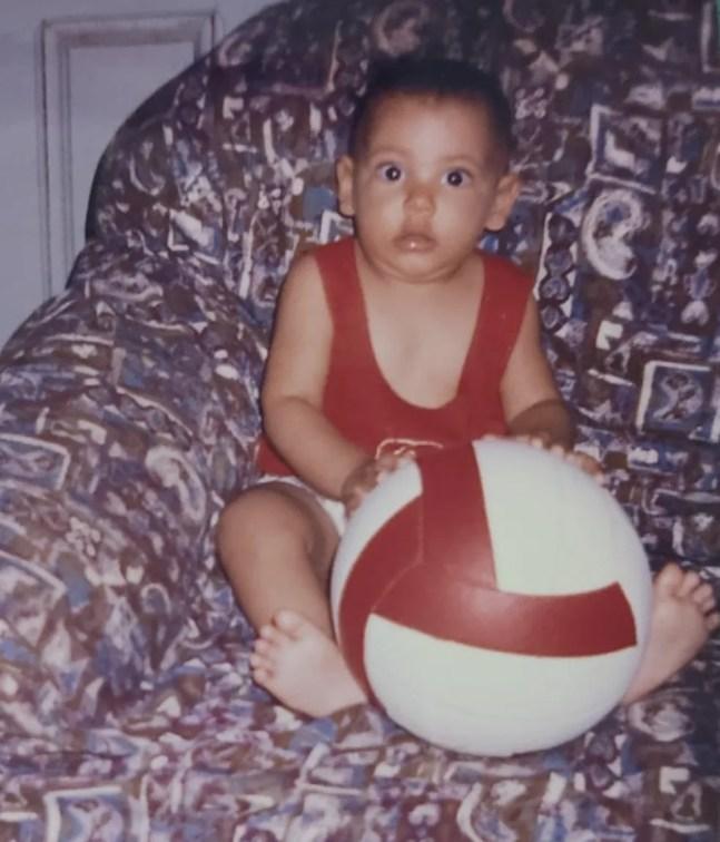 Duda, filha de Cida, desabrochou para o vôlei de praia de forma muito precoce — Foto: Arquivo Pessoal