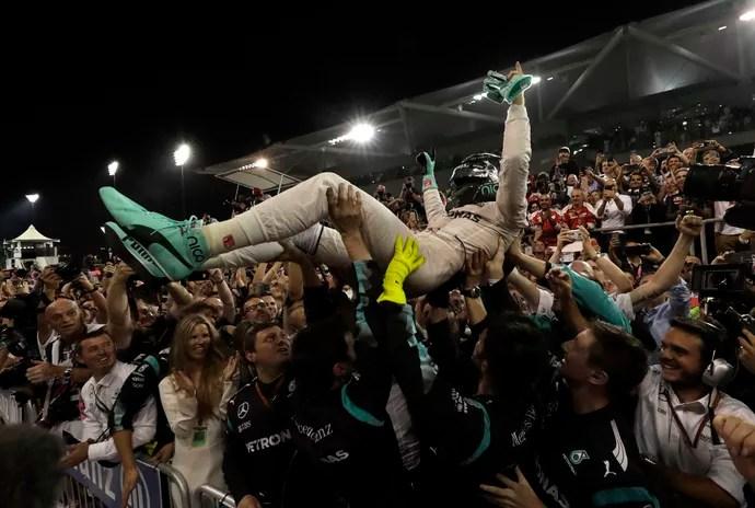 Nico Rosberg Fórmula 1 GP Abu Dhabi campeão (Foto: AP Photo/Hassan Ammar)