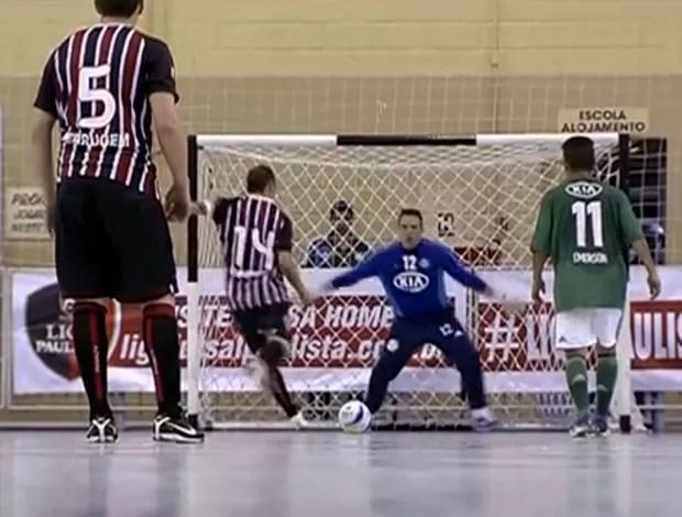 São Paulo x Palmeiras, Liga Paulista de Futsal (Foto: Reprodução SporTV)