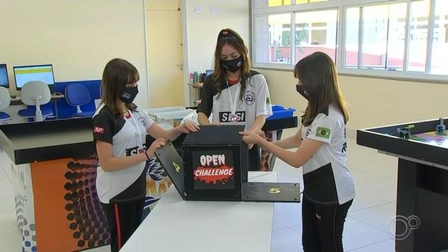 Estudantes da região podem se inscrever em concurso de robótica — Foto: Reprodução/TV TEM