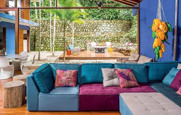 A praia  detalhe  Casa e Jardim  Colorido