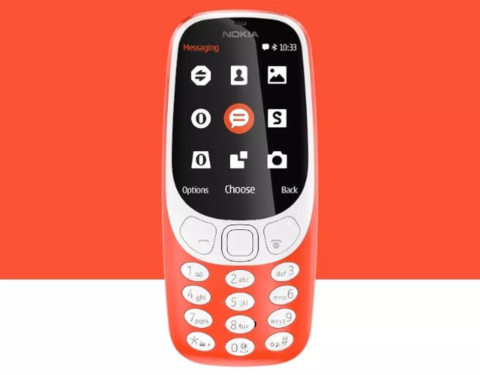 Feature Phone da Nokia também está disponível em coral — Foto: Divulgação/ Nokia