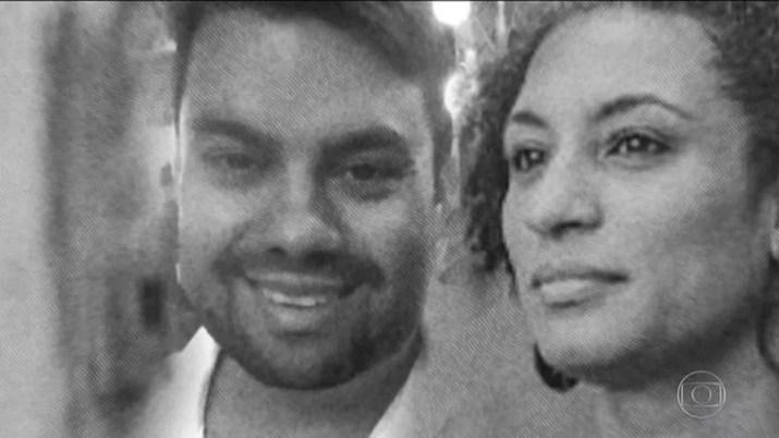 Marielle Franco e Anderson Gomes — Foto: Reprodução/JN