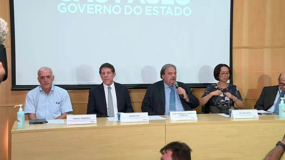 Autoridades anunciam primeira morte causada por coronavírus no estado de São Paulo. — Foto: Reprodução/TV Globo