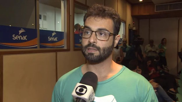 Vinícius Miguel é candidato ao governo de RO, pela REDE. (Foto: Reprodução/Rede Amazônica)