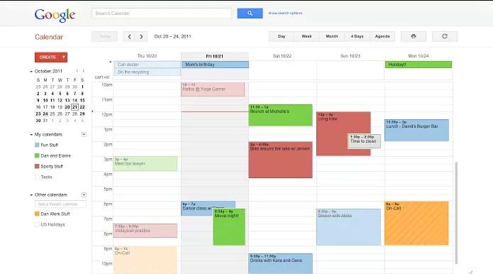 Google Agenda é clássico e ainda um dos melhores (Foto: Divulgação/Google)