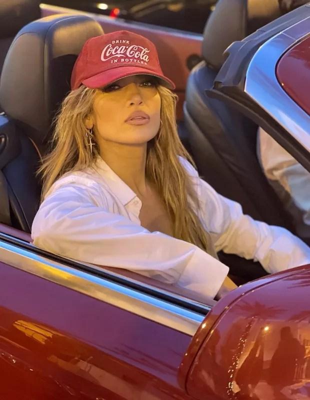 Jennifer Lopez records clip in Miami (Photo: Reproduction/Instagram)