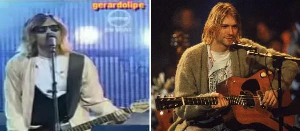 Kurt Cobain e seu cover peruano (Foto: Reprodução/Getty Images)