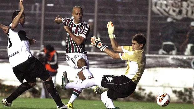 Leandro Euzébio jogo Fluminense Olimpia (Foto: Nelson Perez / Fluminense. F.C.)