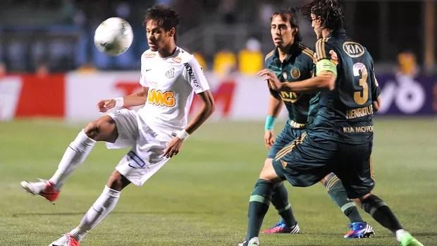 Neymar, Palmeiras x Santos (Foto: Marcos Ribolli / Globoesporte.com)