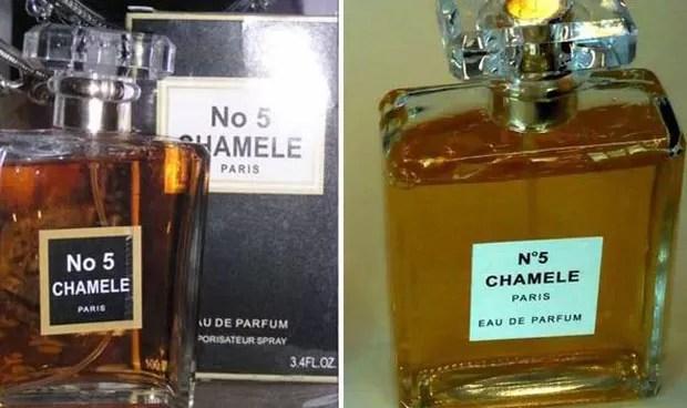 'Chamele Nº 5' ganhou apelido de pior falsificação da história (Foto: Reprodução/Twitter/1001portails UK)