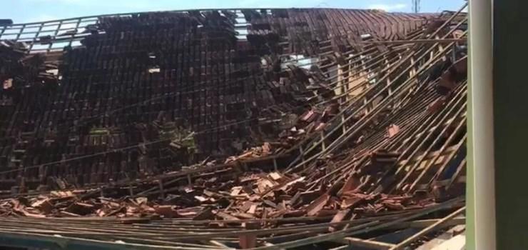 Teto da escola Buriti desabou no interior de RO — Foto: Buritis Agora/Reprodução