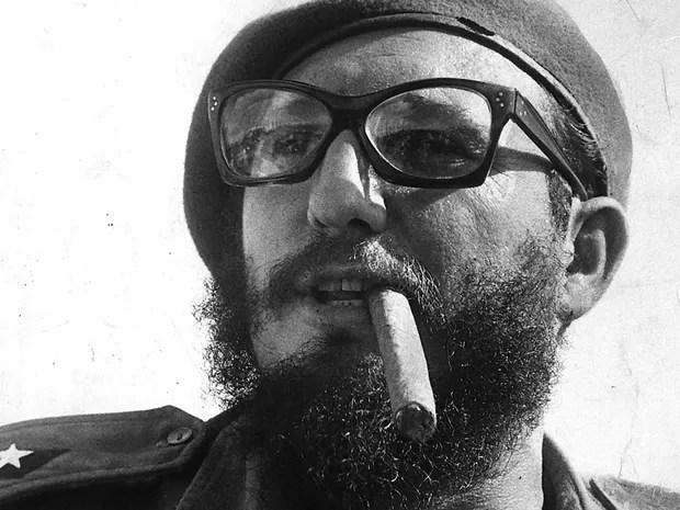 O líder cubano Fidel Castro em Havana, em 1960, quase um ano depois da revolução. (Foto: Tad Szulc/The New York Times)