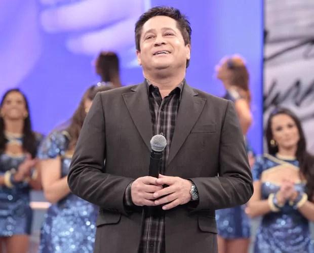 Leonardo fala sobre a saúde do filho Pedro (Foto: Domingão do Faustão / TV Globo)