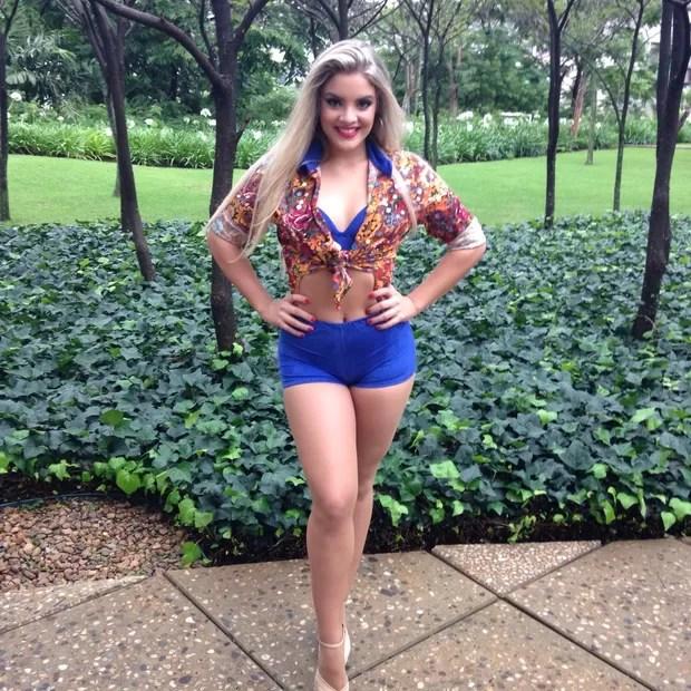 Rithielle Tolentino, bailarina do Domingão do Faustão (Foto: Reprodução/Divulgação)