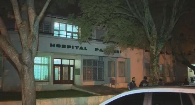 Acidente ocorreu no Hospital de Panambi na terça-feira (30) (Foto: Reprodução/RBS TV)