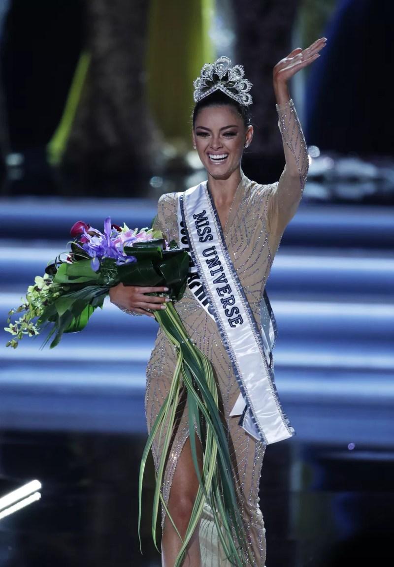 A Miss Universo 2017 Demi-Leigh Nel-Peters (Foto: AP Photo/John Locher)