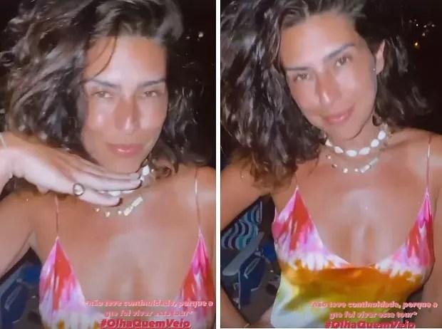 Fernanda Paes Leme no aniversário de Caio Castro em Fernando de Noronha (Foto: Reprodução/Instagram)