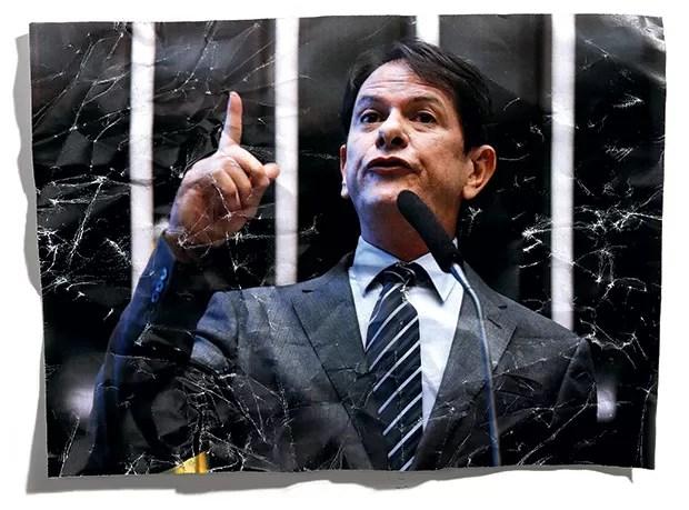 EFÊMERO Cid Gomes na Câmara (acima) e a casa alugada pelo governo cearense em Brasília. Ele foi um ministro sem deixar a política regional  (Foto: Sérgio Lima/Folhapress)